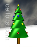 3D christmas tree free cell phone background