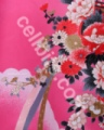pink Japanese kimono print cell phone graphic